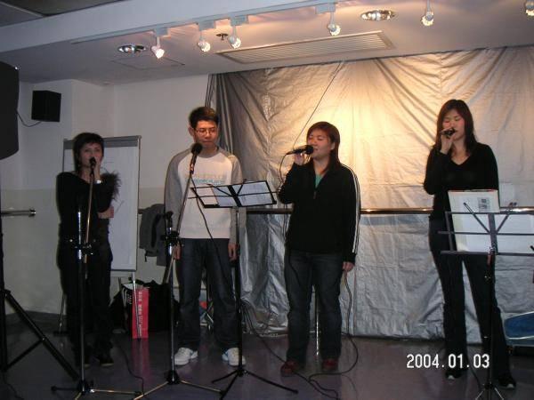 """2004.01.03 (六) - 第25次每月青韻民歌音樂派對 - Fronia & Fion 主唱""""遇見"""""""