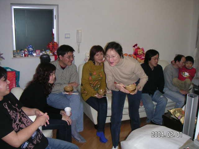 2004.02.01 (日) - Allan及KK家中的拜年敘會 1